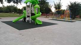 Rubber wet pour and artificial grass