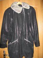 Куртку кожаную с норковым воротником