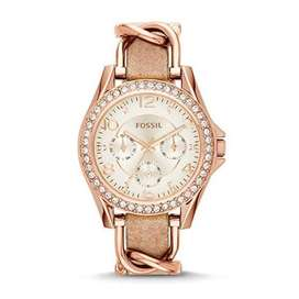 Ladies Riley Rose Gold fossil watch