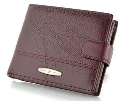 Компактное мужское кошелек с отделом для удостоверений в коричневом ц