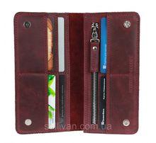 Женский кожаный кошелек портмоне ручной работы