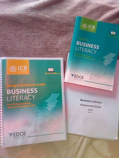 ICB Business literacy textbook ,study guide with solutions 0