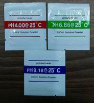 Калибровочный раствор буферный порошок pH 4.00, 6.86 и 9.18 РН метр