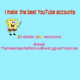 I am making the best youtube channel 16 rand per channel