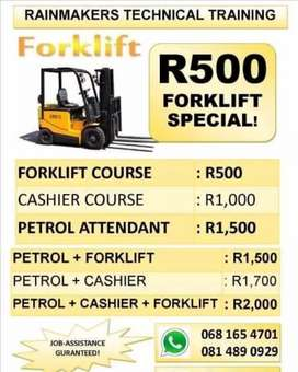 Rainmakers Forklift training is on promotion now