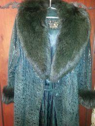 Женское кожанное пальто