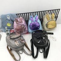 Рюкзак женский с паетками ушками