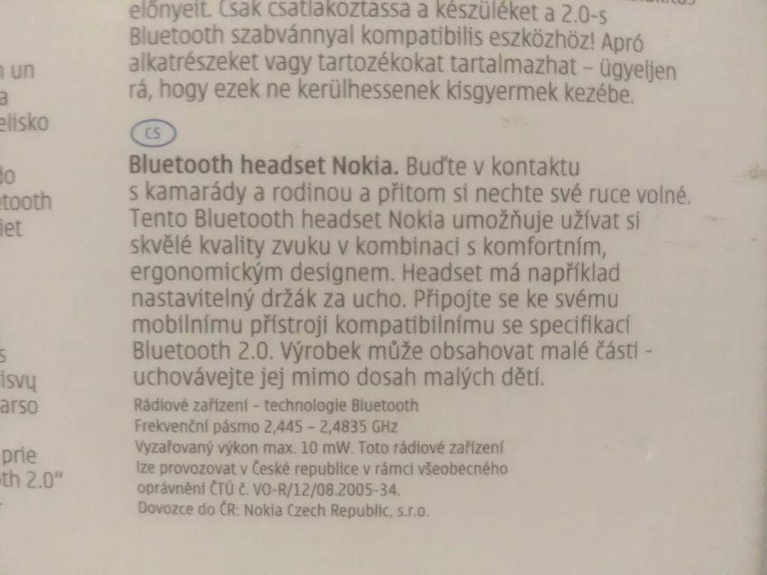 Handsfree Nokia (nové) 0