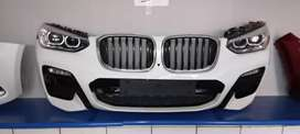 BMW X3 COMPLETE FRONT BUMPER WITH HEADLIGHTS AVAILABLE