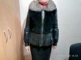 Куртка из меха и кожи