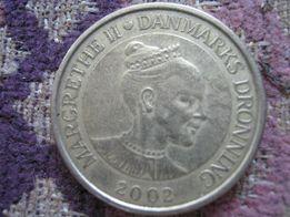 20 крон , Дания 2002 год , 300 гр .