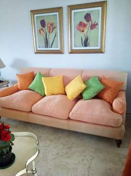3 Seater Material Couch