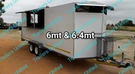 Mobile kitchen food trailers