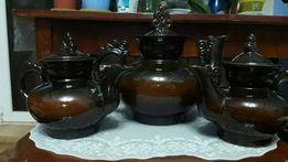 Керамические чайники набор из 3 штук