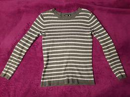 Ciepły sweter w paski Sinsay