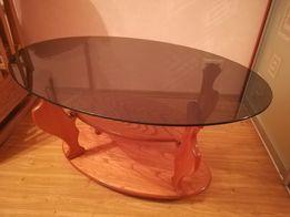 Стеклянный стол чёрное стекло