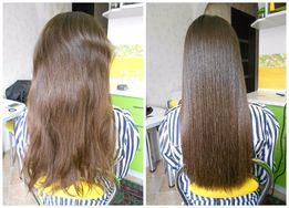 Кератиновое выравнивание+восстановление волос (Luxliss)