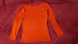 Czerwona bluzka z odkrytymi ramionami i długim rękawem Sinsay