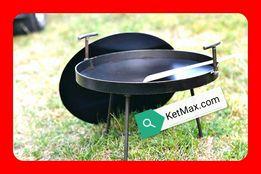 Сковорода из диска с крышкой,мангал,гриль,садж,для пикника