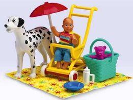 LEGO scala belville friends duplo wózek dla lalki pies dalmatyńczyk