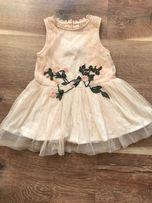 Нарядное платье с вышивкой next
