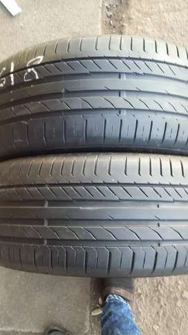 2 × 225 / 45 / 18 runflat continental tyres for sale