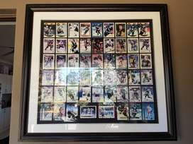 Collectable ice hockey card frame Penguins