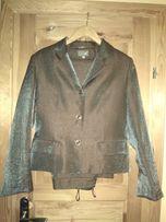 Kostium spodnie żakiet z połyskiem 40