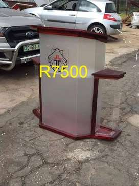 Wide Podium with Lovely Wooden Tops And Base