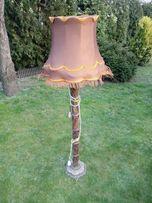 Przepiękna, zdobiona Lampa z abażurem