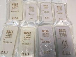 Etui Przezroczyste Cienkie iPhone 5 5S 6 6S 7 8 Samsung Huawei W-WA