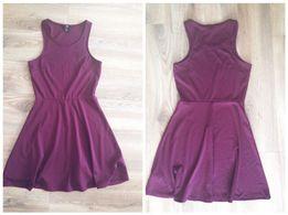 H&M klasyczna śliwkowa sukienka S model Zara Mohito
