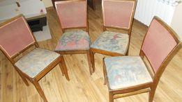 Krzesła tapicerowane 4 szt. - transport gratis