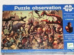Djeco Puzzle Obserwacyjne Bitwa Smoków 350 elementów 6+