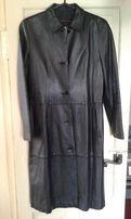 пальто женское кожаное италия
