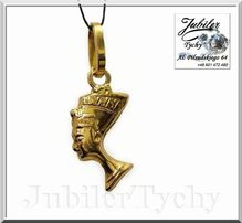 Złoty wisiorek głowa Nefretete ikona starożytnego Egiptu Jubiler Tychy