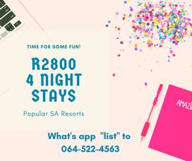 4 nights special at only R2800
