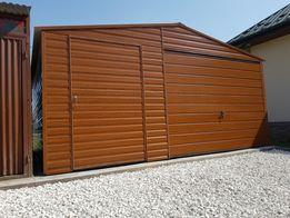 Garaż blaszany 5x5 garaże drewnopodobne PROFIL