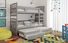 Łóżko piętrowe dla 3 osób OLI z dolnym spaniem. Dostawa Darmowa !