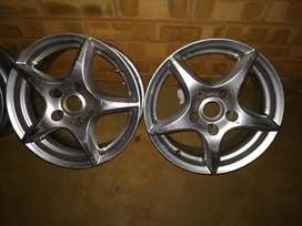 "2 * 15"" 5hole by 120pcd rims"