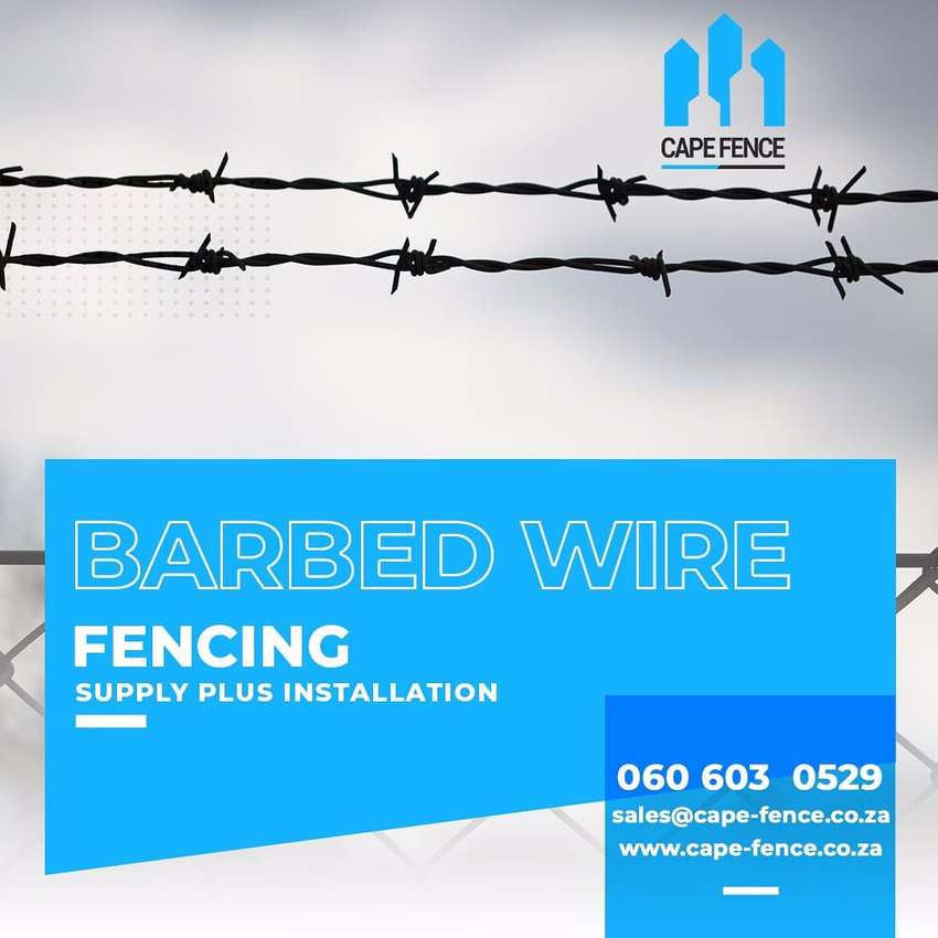 Galvanised Single and Double strand barbed wire
