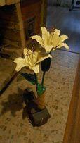 кованые цветы, подсвечники, мебель