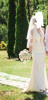 Нежное свадебное платье Love Story со шлейфом