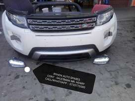 2015/16 Range Rover Evoque complete front bumper with up / down grill,
