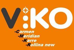 Розетки VIKO Carmen, Meridian, Karre, Rollina, Низкая цена, ОПТ -35%