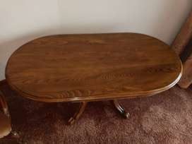 Antique Solid Mahogany Oval Table