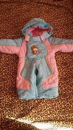 Продам зимний+осенний костюм 86 см