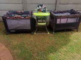 Cots and High Chair