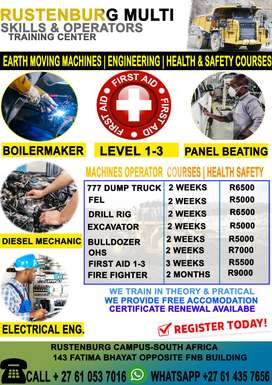 EARTH-MOVING COURSE‍️‍️-OCCUPATIONAL HEALTH & SAFETY- DIESEL MECHANICS