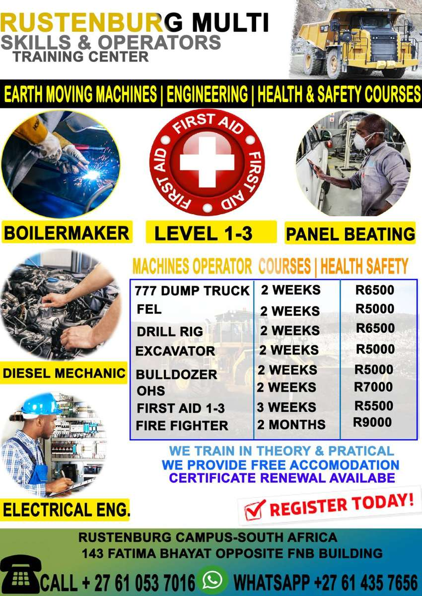 EARTH-MOVING COURSE‍️‍️-OCCUPATIONAL HEALTH & SAFETY- DIESEL MECHANICS 0